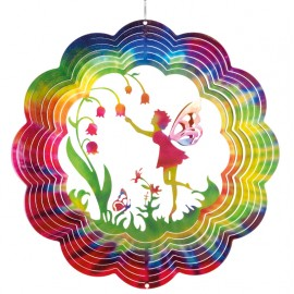 Suspension Rainbow Flower Fairy Decoration extérieur CIM