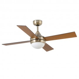 Ventilateur Icaria 132cm 2XE27 or antique - Faro