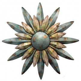 Décoration murale Soleil Aqua Sunburst Regal Art & Gift